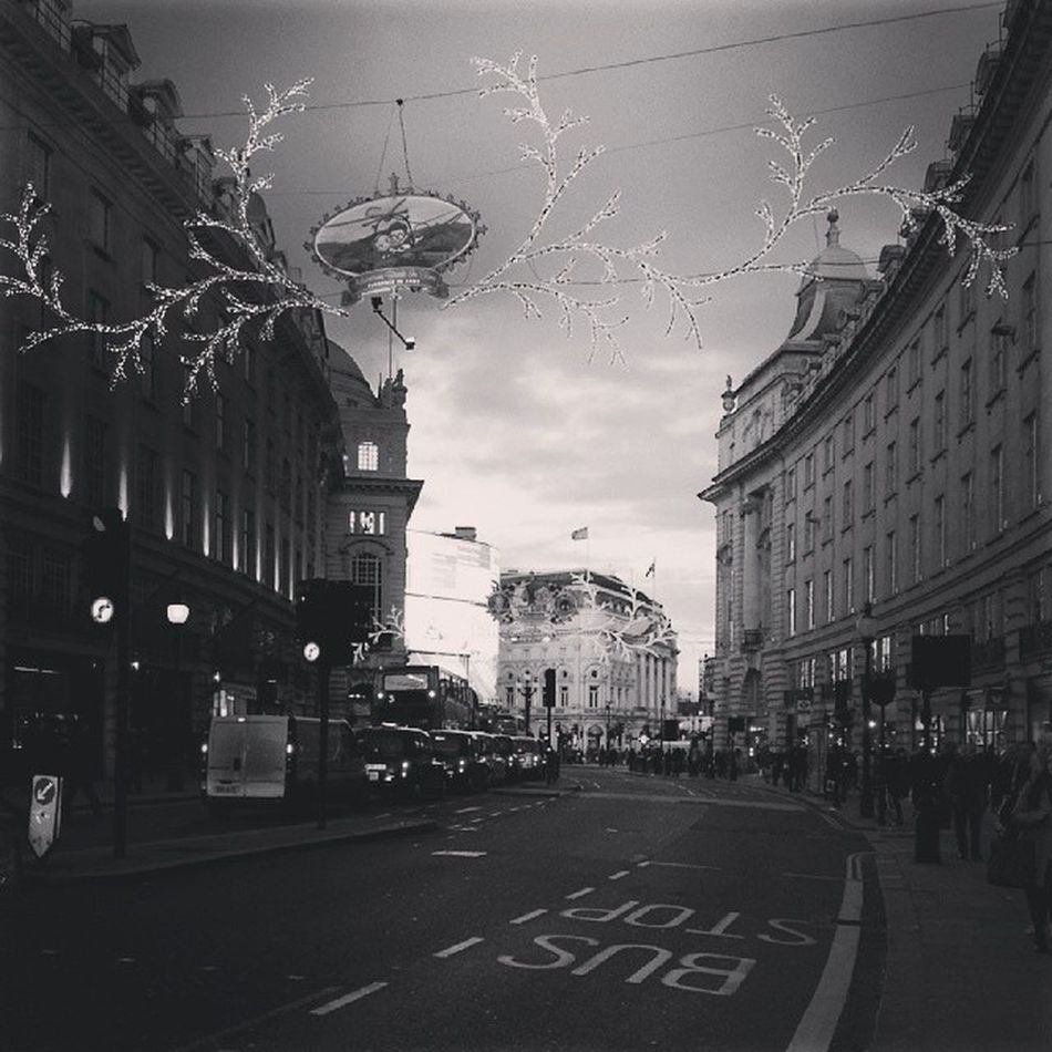 Better picture than the first I took  Regentst London Christmas decorations outings city