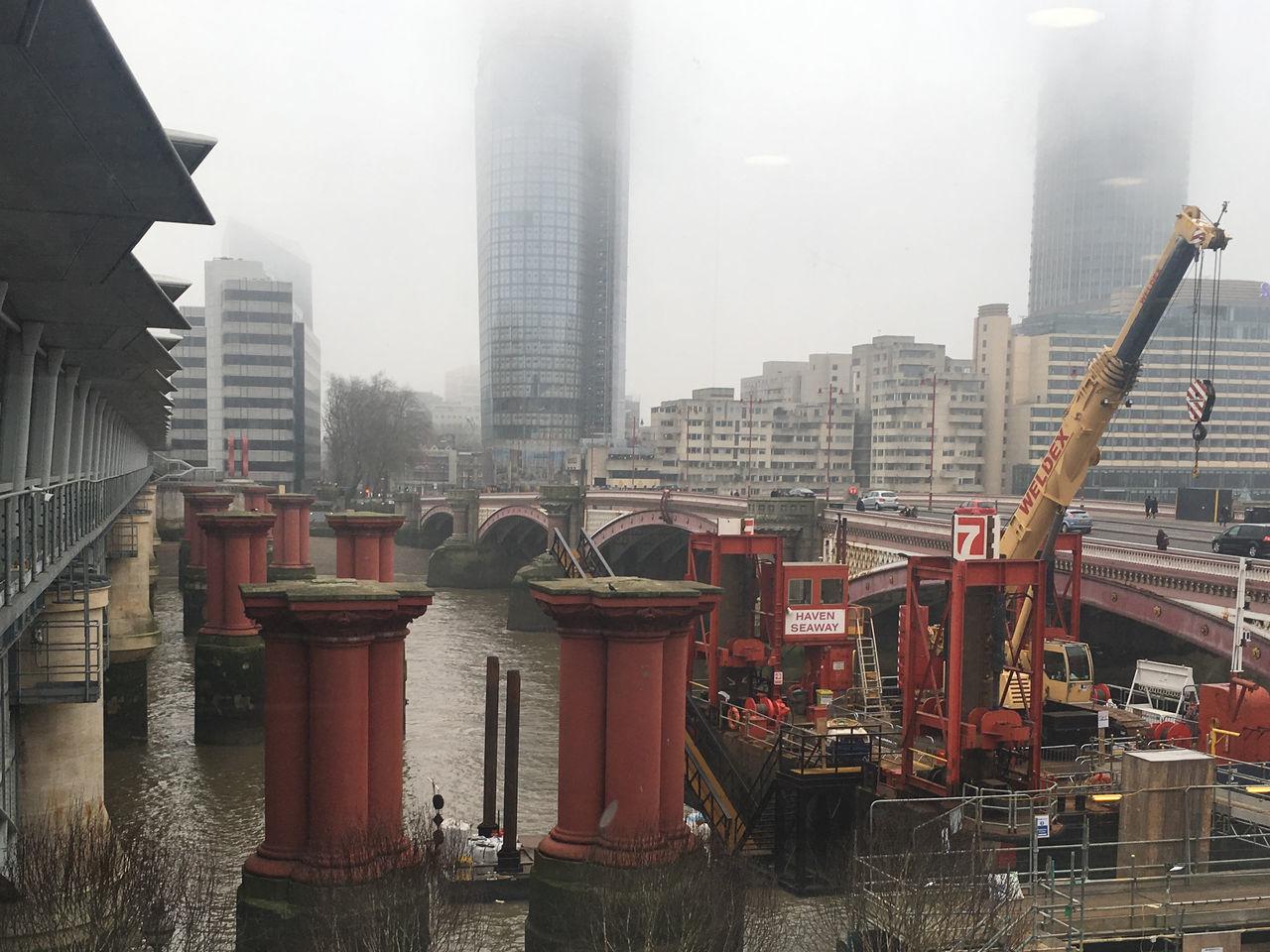 Architecture Bridge City River River Thames Unfinished Bridge