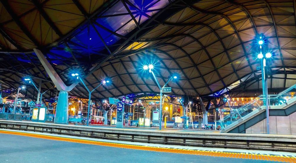 Train Station Melbourne Melbourne City Victoria Australia Southerncrossstation