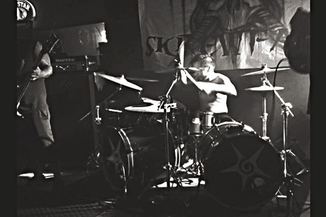 Music Drummer Metal Band Skrewface Blackandwhite