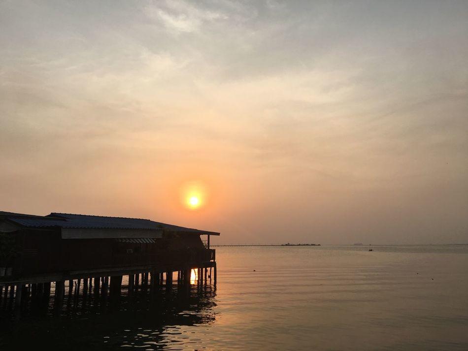 Sunset Sky Sea Beauty In Nature Horizon Over Water Beach Pattaya Thailand