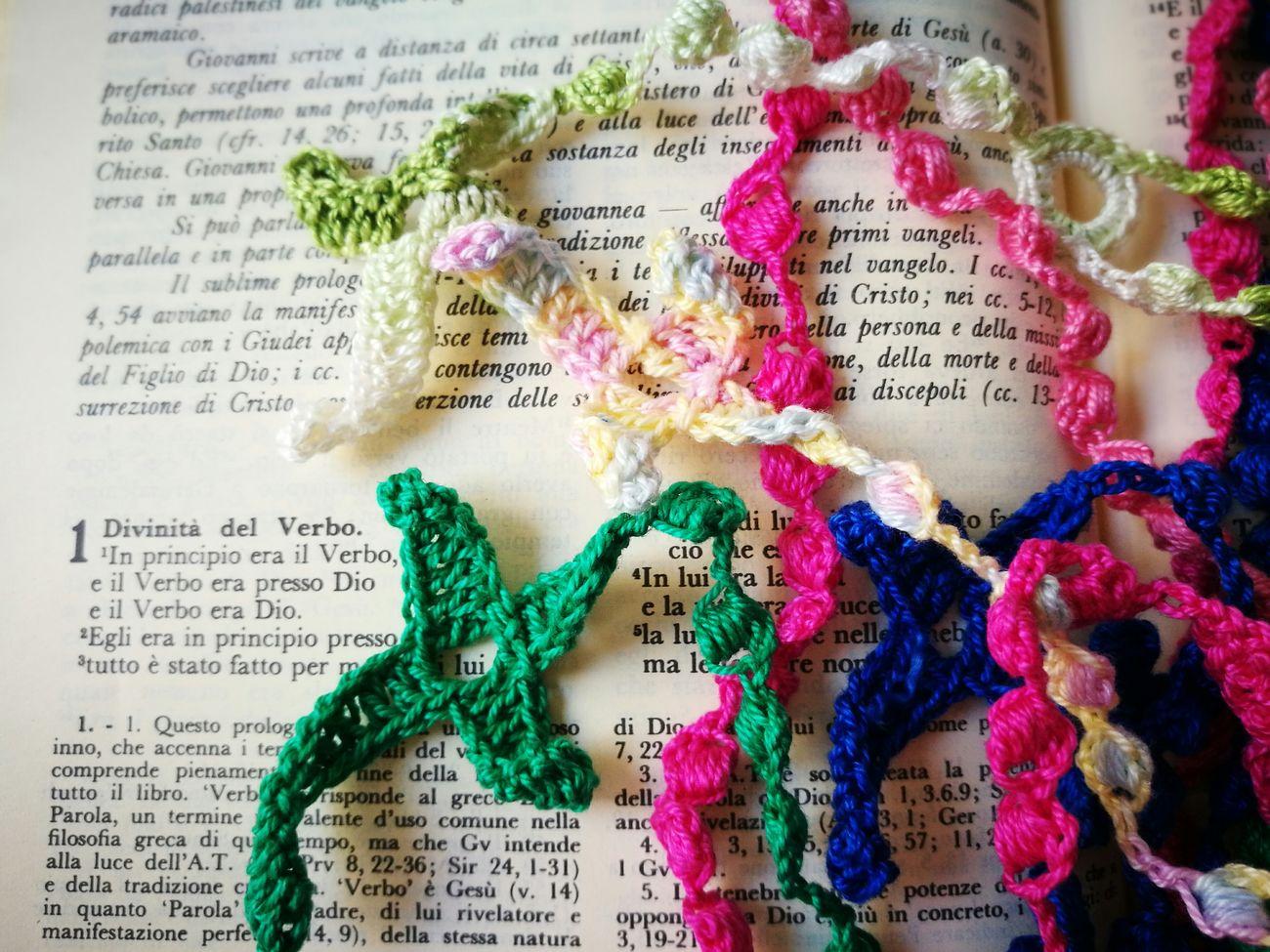 Pray Jesus Christ Our Lady Rosary Crochet Saint John Gospel Bible Christianity Catholicism