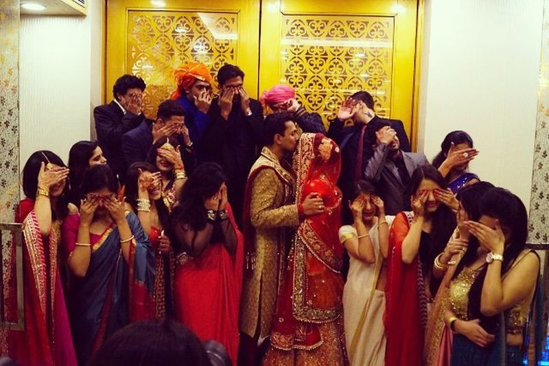 It wasn't a wedding, it was a party. HappilyMarried AttyWedsSam Weddingshoot Friends Posers Love 😍 💏 💑