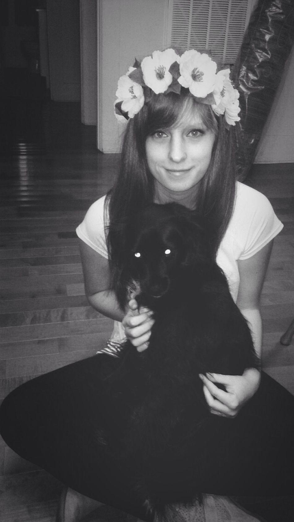 Love my puppy Puppy Love Flowers Dog♡
