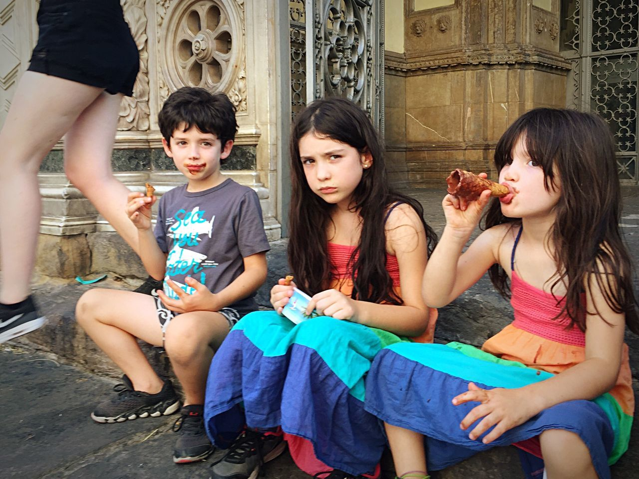 Enjoy The New Normal Children Gelato Florence Italy Rolemodels Coolkids if my children can't eat gelato the way they want and they have to conform to be politically correct even when eating gelato, they'll probably be in misery. Why bring them to life and make them suffer ?