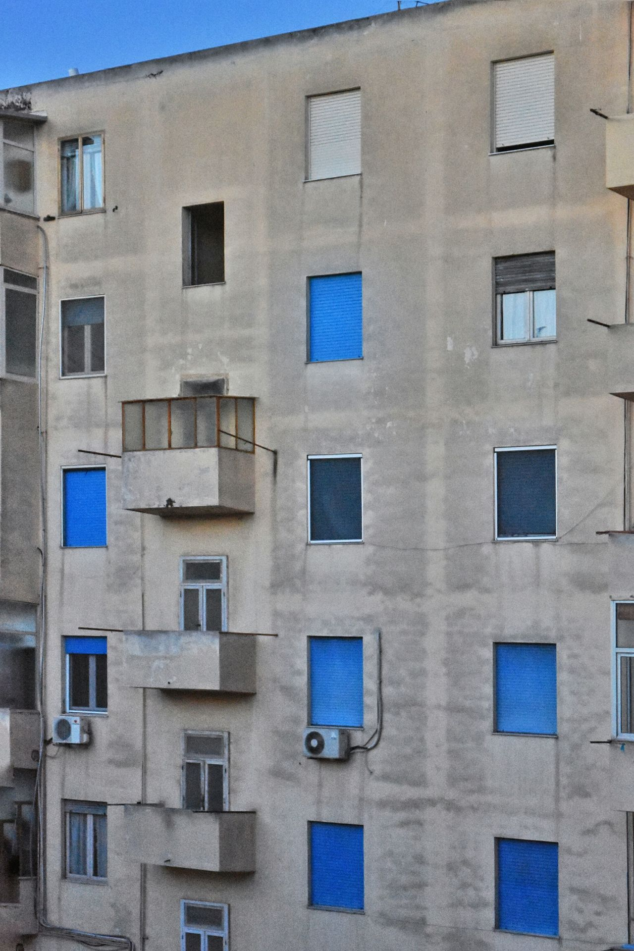The Architect - 2017 EyeEm Awards Pendant Feeling Blue Building Exterior Architecture No People Backgrounds Built Structure Window Blue Outdoors Full Frame Gradient Neighborhood