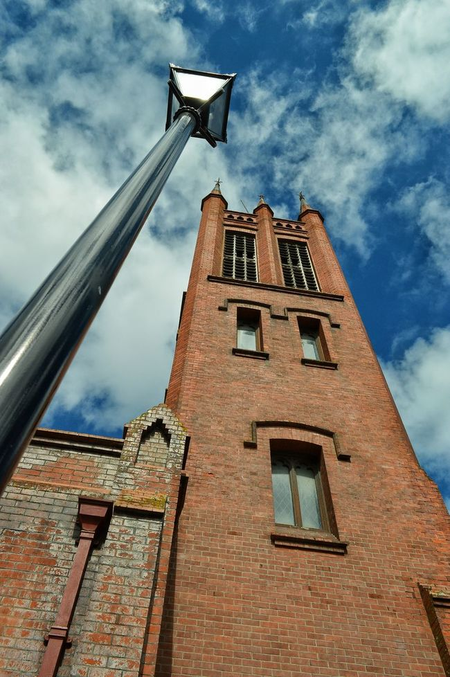look up to the heavens and you may be blessed. 👼🙏🙏 or you could just see a street light 😝😜🙋🙋 Looking Up Church Churchtower Streetlamp Streetlight Sky And Clouds Eye4photography  Sky_collection Palmerston North Nz Brick Building Streetphotography Tadaa Community Getting Inspired New Zealand Scenery Churches From My Point Of View Hello World Looking Skyward Old Church Brick Today's Hot Look Check This Out On The Streets Architecture Urban Geometry