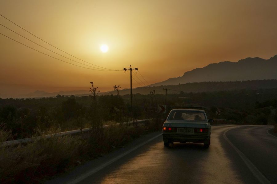 Coastline Cyprus Girne Mercedes Beauty In Nature Besparmak Cable Car Dawn Electricity Pylon Land Vehicle Mode Of Transport Mountain Nature No People North Cyprus Outdoors Road Scenics Sky Sunrise Transportation