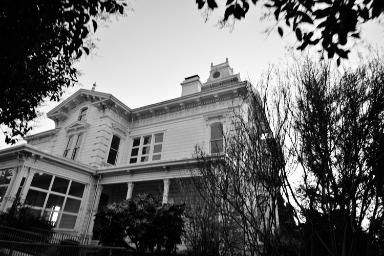 Bnw_friday_eyeemchallenge Sundown @ Meeks Mansion 1 Cherryland, Ca. National Register Of Historic Places 1972 Architecture : Victorian Built 1869 Architectural Style: Second Empire Italian Villa Built By William Meek 23-27 Rooms Originally 3000 AcresAgricultural Farmlamd Of Orchards Crops: Cherry,apricots,plums & Almonds Grounds Include Carriage House & Gazebo HARD: Hayway Area Recreation Park District Now Owns & Operates For Public Use Weddings,tours,museum,workshops,garden Black & White Black And White Black And White Collection  Black And White Photography