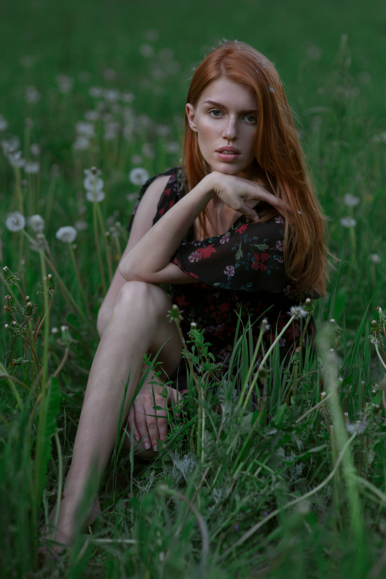 Twisted Sunday. https://www.instagram.com/eglelaurinavice/ Beautiful Woman Beauty Dandelion Day Field Field Flower Forest Grass Growth Lifestyles Looking At Camera Nature One Person Outdoors People Portrait Portrait Of A Woman Real People Twisted Young Adult Young Women