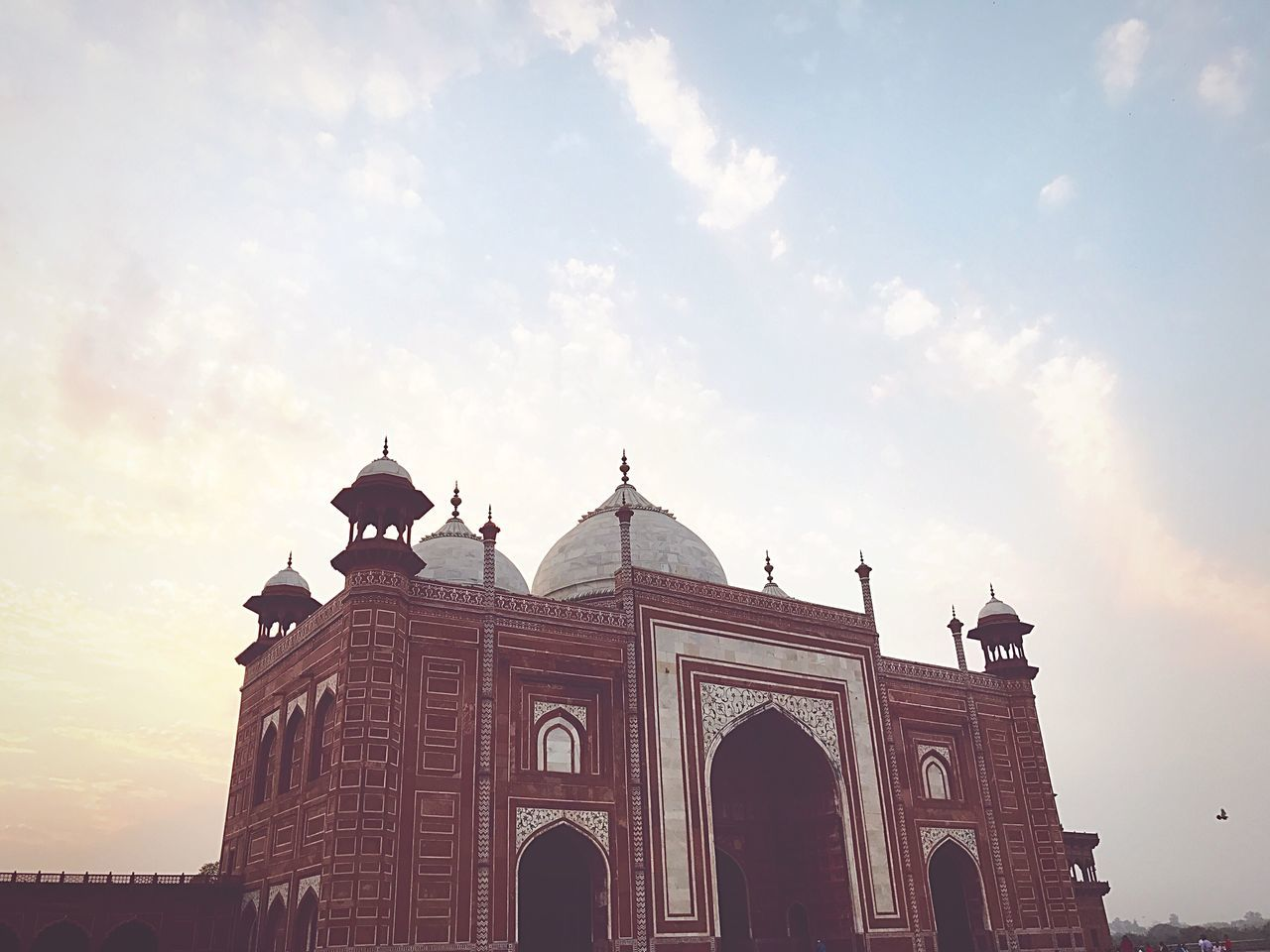 Architecture City Cloud - Sky Sky Built Structure Outdoors City Place Of Worship No People Love History Tajmahal Beauty Architecture Building Exterior Low Angle View Dome Sunlight Day Arch