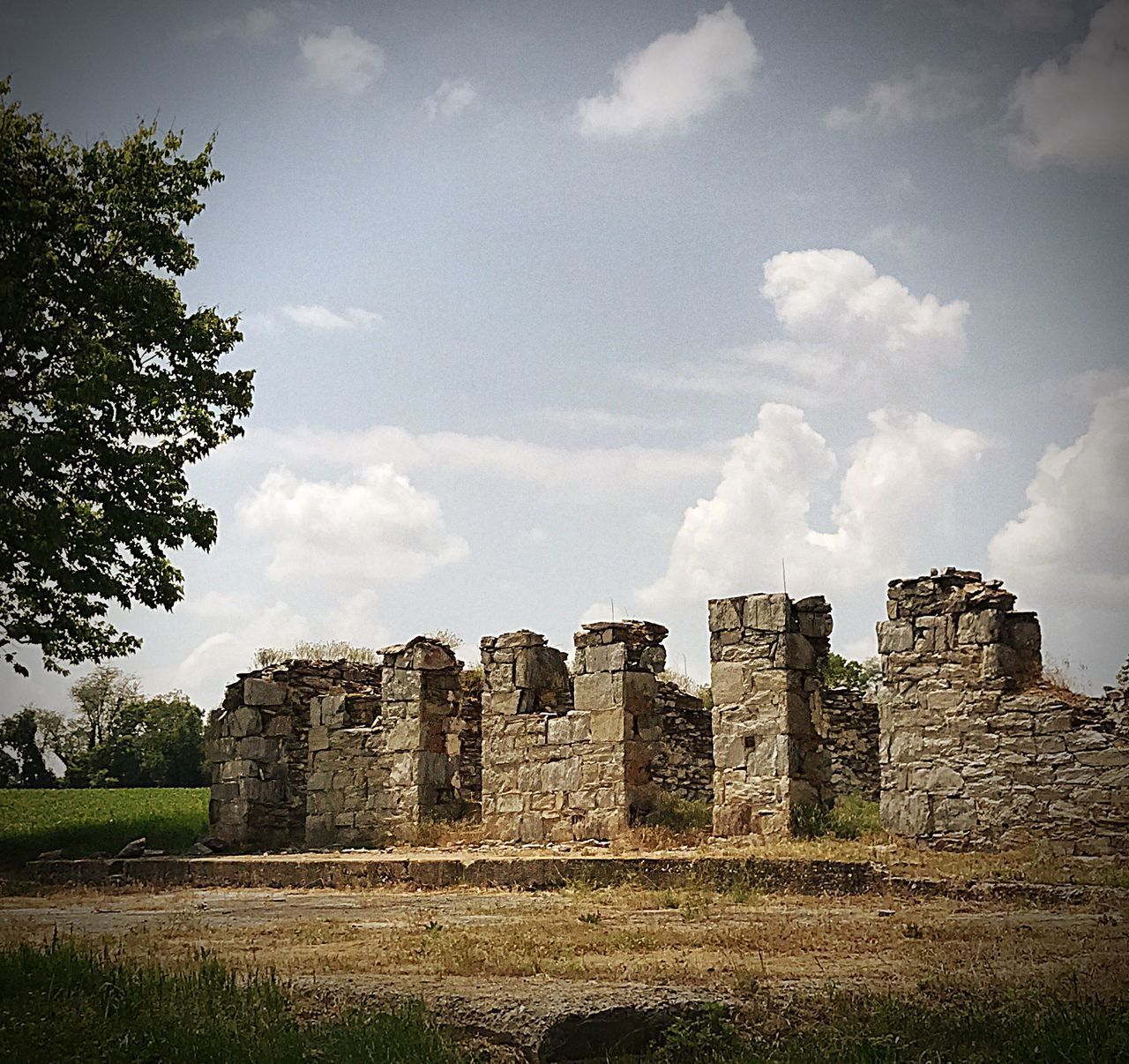 History Architecture Old Ruin Sky Cloud - Sky Built Structure No People Day Tree Outdoors Rural Scene Brick Wall Building Exterior Man Made Structure