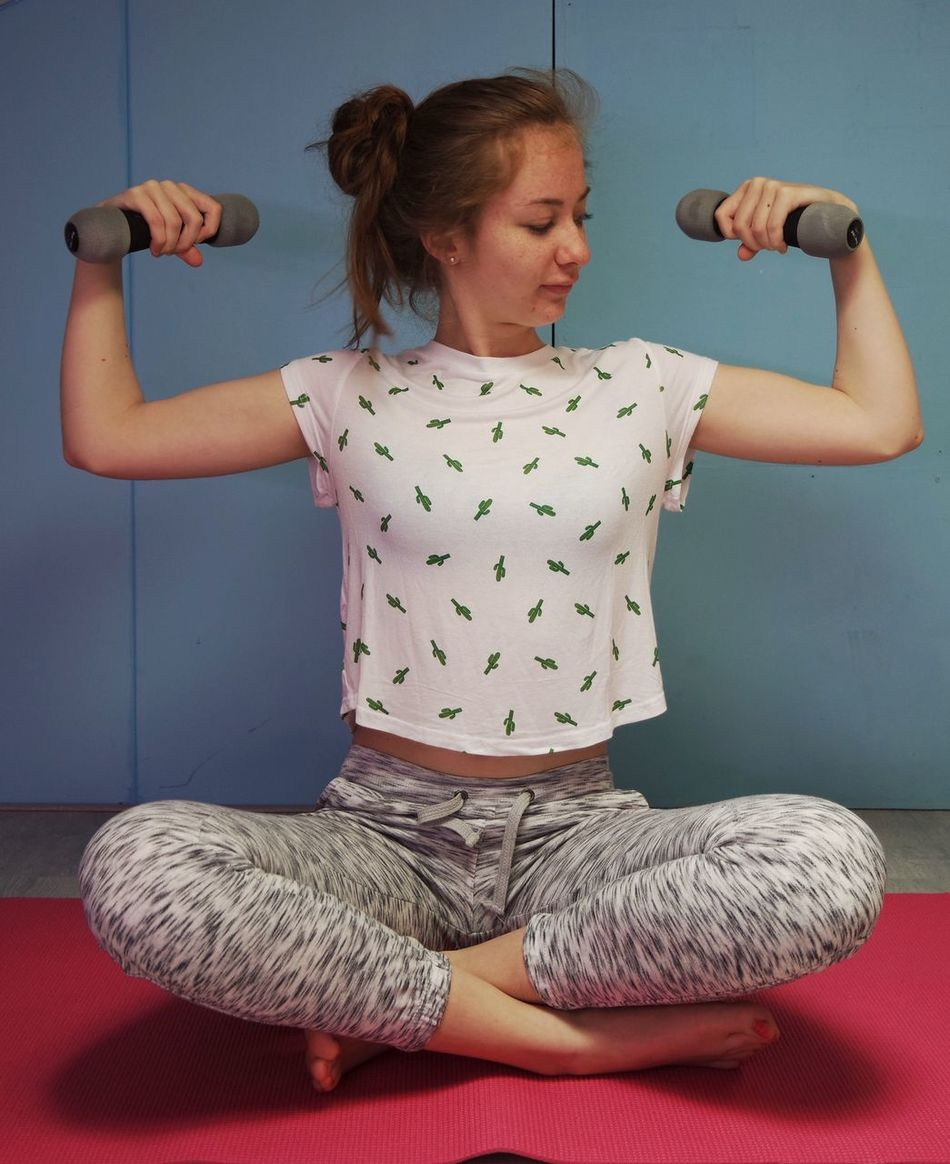 Funny Faces Exercise Time Girl Workout Mat Stronger Strongwoman Hairstyle Physical Activity weight Weightlifting Stronger! Home Workout Top Knot Fitness Training Home Fitness Shirt Cactuslover Cactus Dumbbells Athleisure