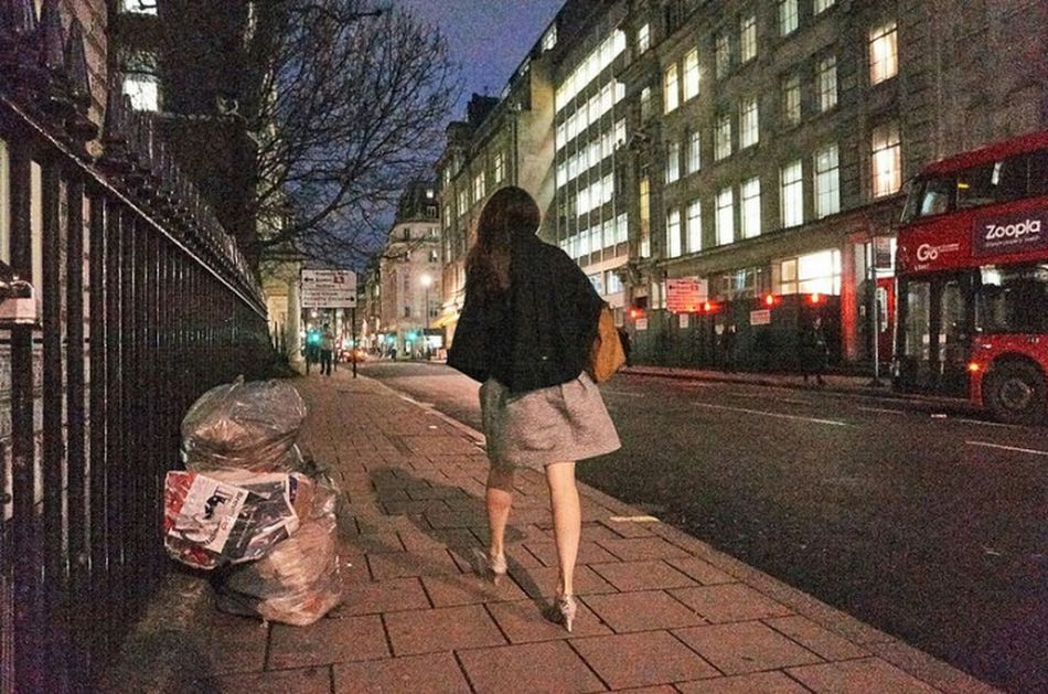 Cavendish Place. Walking Building Exterior Outdoors One Woman Only Illuminated City Life Street Streetdreamsmag Fitzrovialitter Urban Life Girl Street Photo Londonstreets Streetphotographer Street Photography Streetphotography Night Street Light London Streets Streetphoto London Calling Sidewalk LONDON❤ Low Angle View Urban