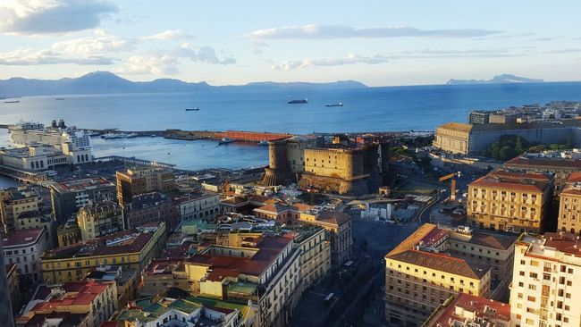 Naples Napoli NHHotels View Relaxing Vacations Atmosphere Cloud - Sky Sunset Mountain Range History Architecture Naples, Italy Built Structure International Landmark Landscape