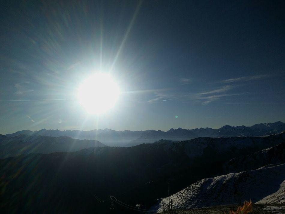 Snow ❄ Winter Skiing ❄ Mountain Sunlight Blue Sky