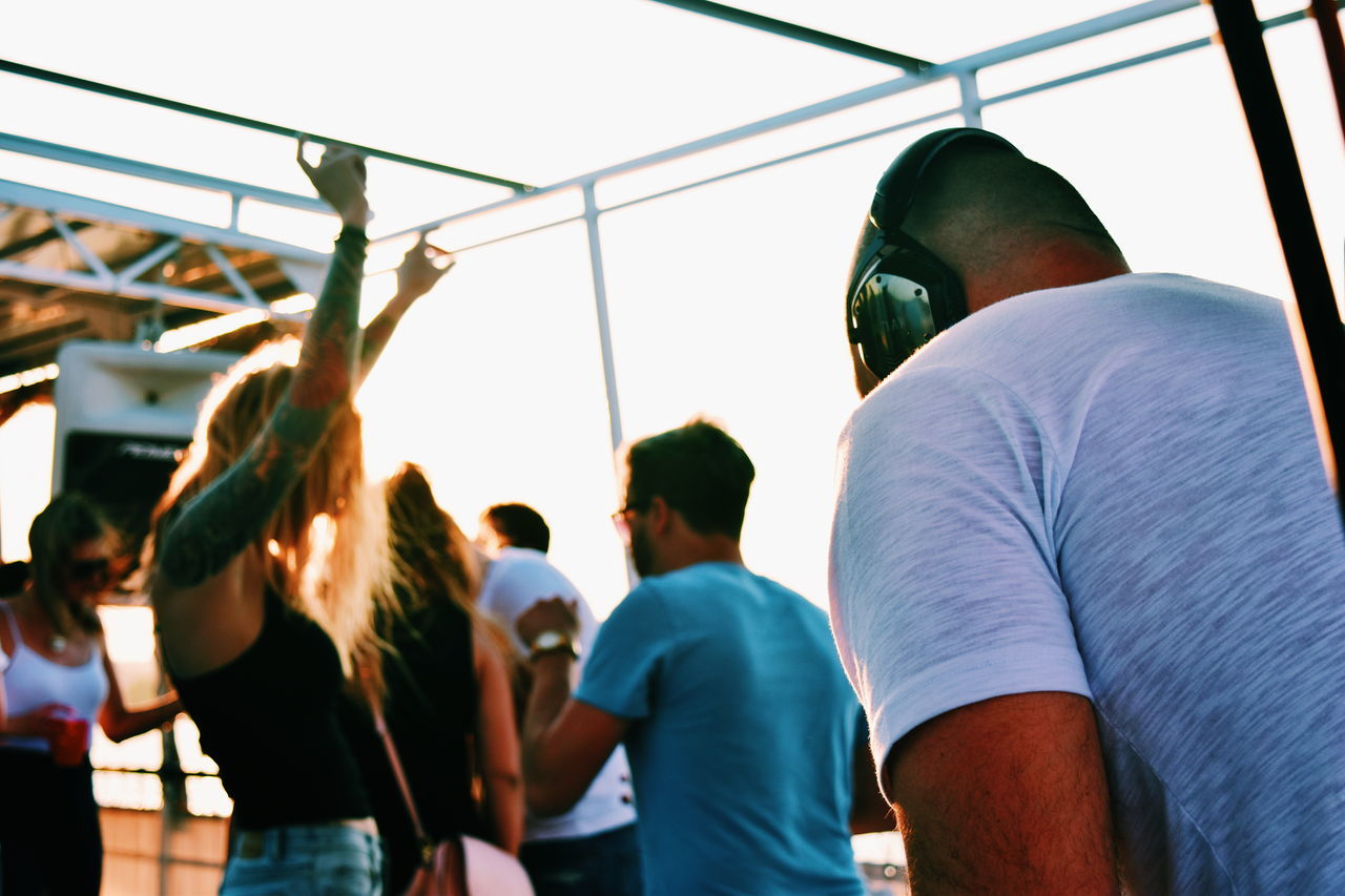 Beautiful stock photos of party, Arms Raised, Arts Culture And Entertainment, Casual Clothing, Club DJ