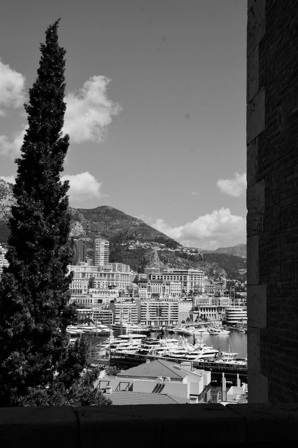 Monaco Building Exterior Architecture Sky Built Structure Mountain Day No People Outdoors Tree Nautical Vessel City Nature Cityscape Indoors  Photography Blackandwhite Photography Blackandwhite Black & White