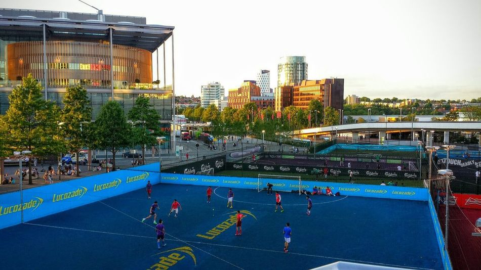Playing Football Artificial Pitch Landscape_photography Cityscapes City View  Sun Reflecting On Glass @ Wembley Stadium London