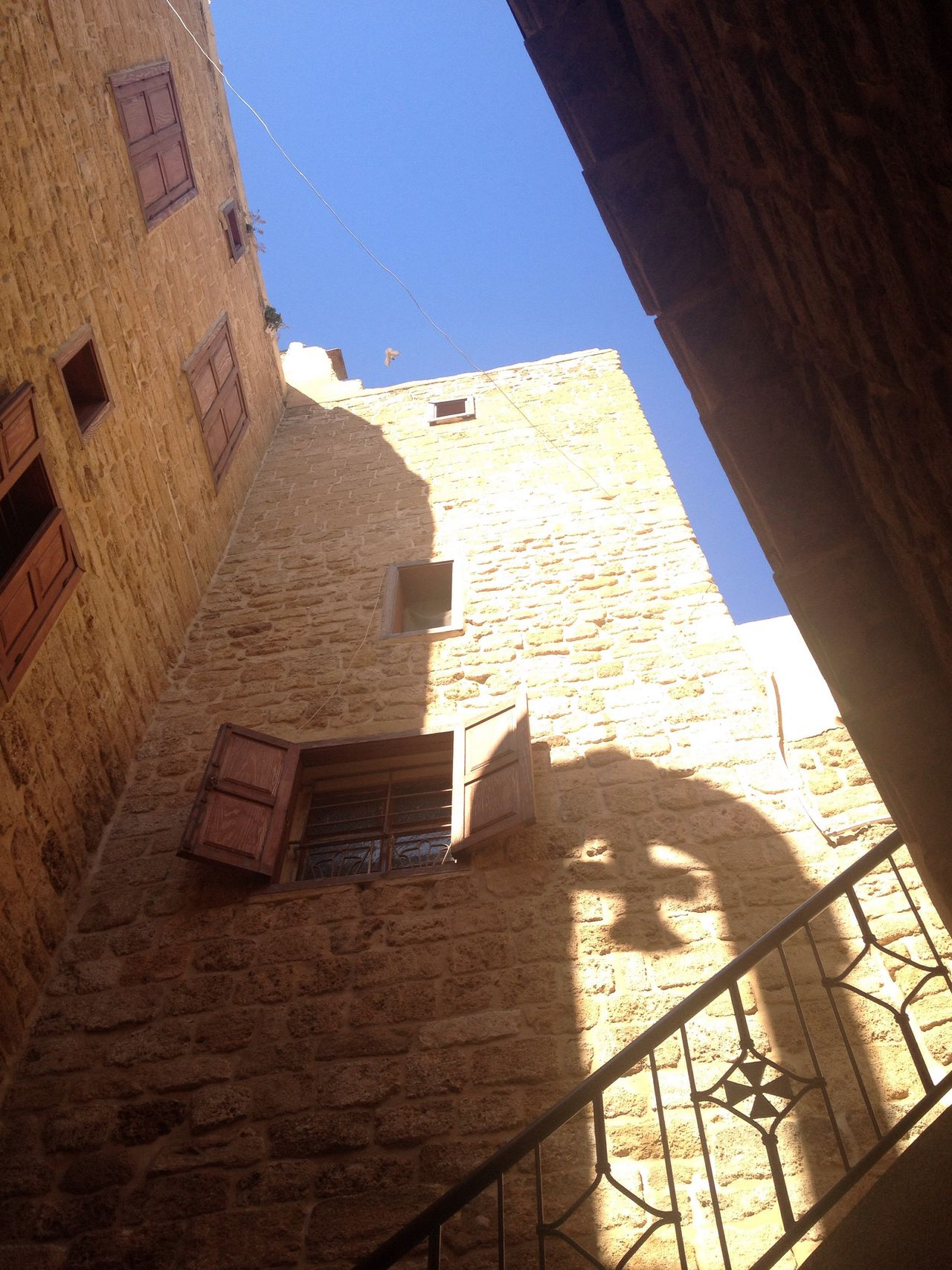 Church Reflection Old Church 8th Century Light And Shadow Reflection Blue Sky Old City Light And Shadow Steeple Sidon Lebanon St Nicholas Cathedral 8th Century The City Light