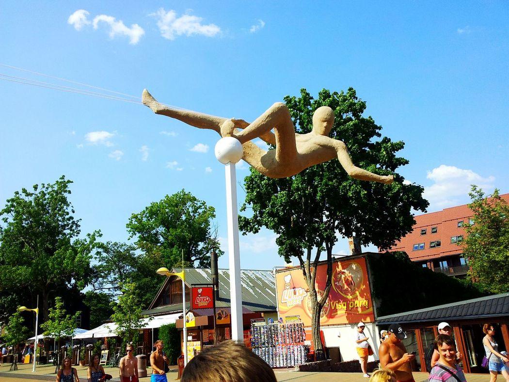 Sand Art Sand Statue Checking In Amazing View Walking Around Lietuva Streetphotography SPIDER MAN!!!!! 😚