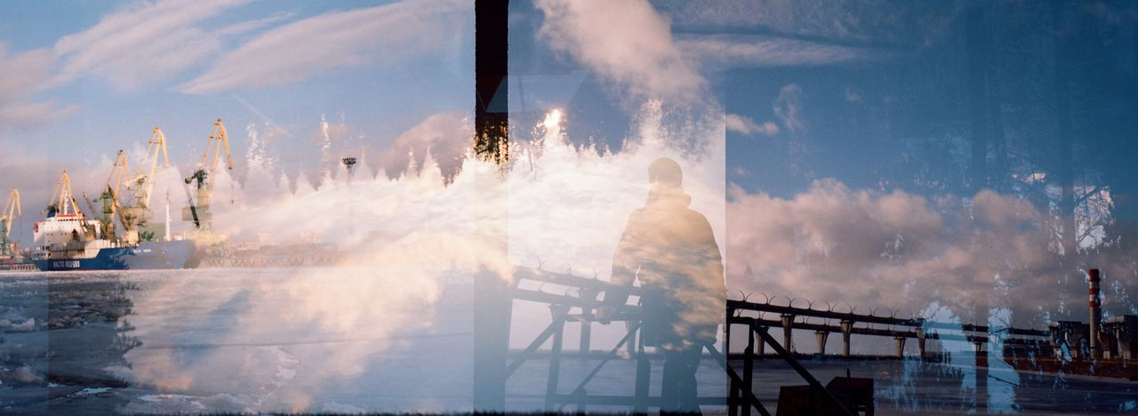 35 Mm 35mmfilmphotography Smoke - Physical Structure Water Outdoors Sky Day Russia Multiexposition St Petersburg Men Exposition Ship Bridge Cranes Shadow Surrealism Abstract