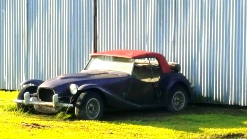 Old car.. Project Car Metal Structure Delapidated Disrepair Greenery Grass No People Car Automobile Sportscar South Louisiana