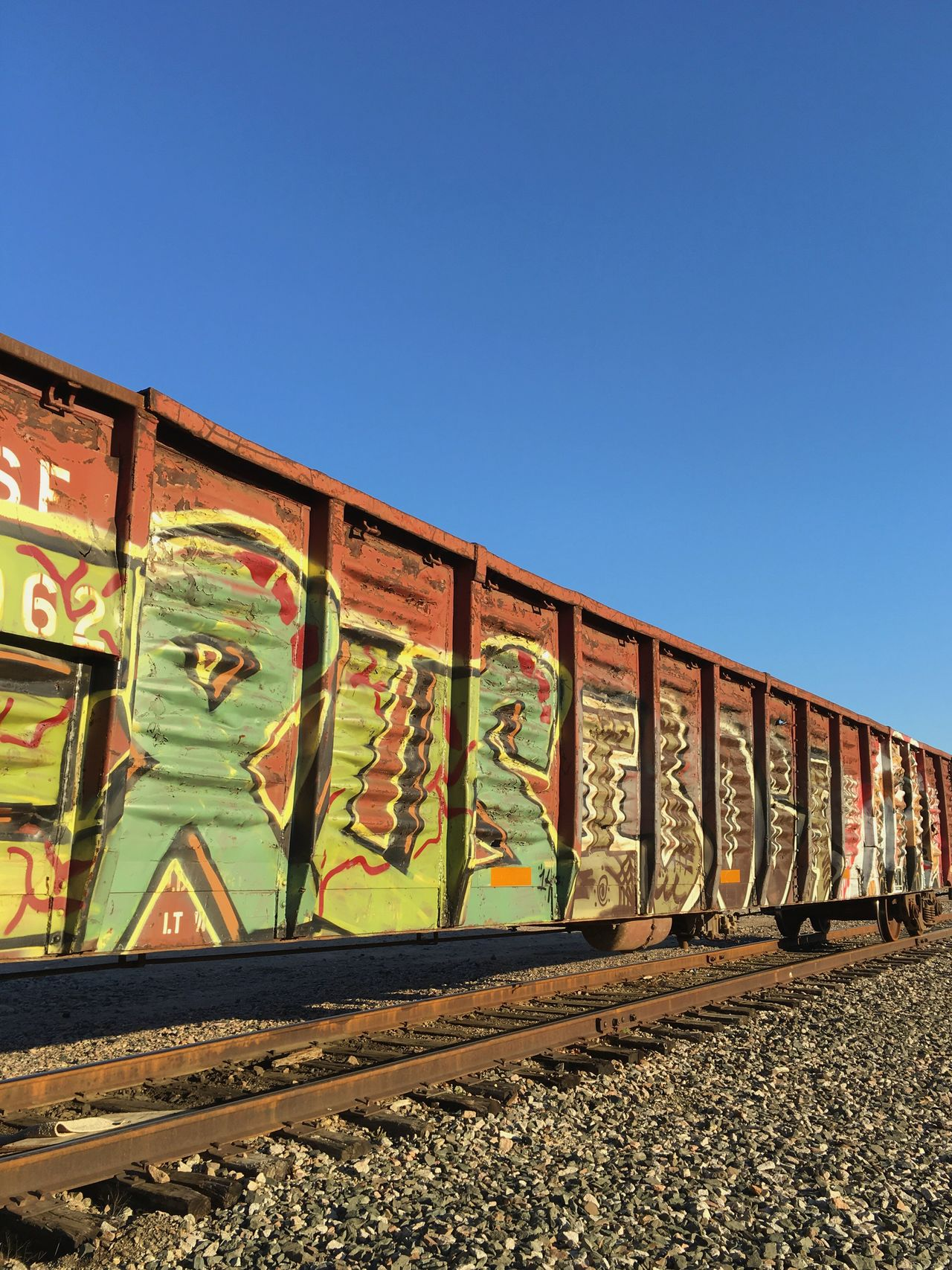 Graffiti Railcar Railroad Track Railway