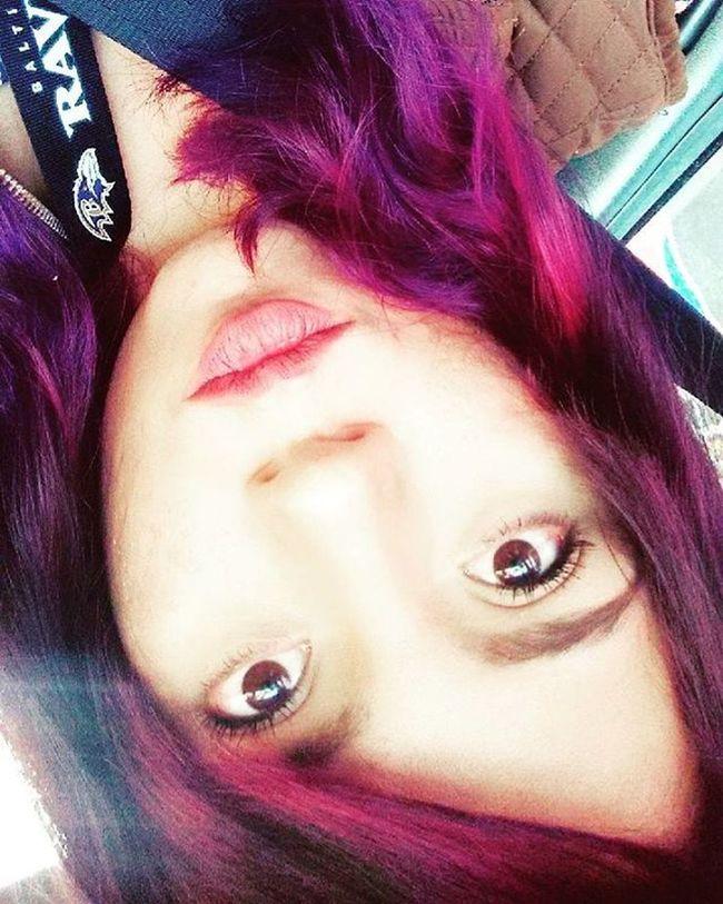 Purple Purplehair NewLook Slyle Hair Hairstyle Look Pinkhair Redhair Morado Rosa Rojo HASHTAG Equis Gato Bah Jessica Cat Cateyes Brown Browneyes Mx  Nude Lips