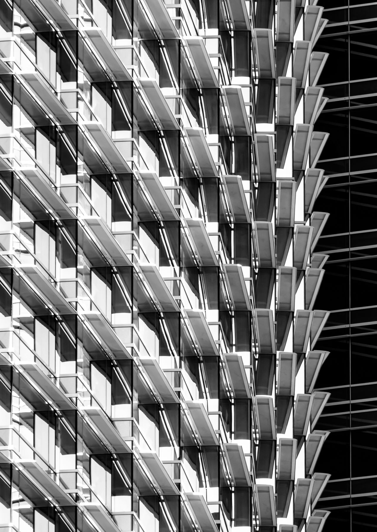 Abstract Architecture Backgrounds Blackandwhite Building Exterior Built Structure City Contrast Day Full Frame Low Angle View No People Outdoors Pattern Repetition Skyscraper Window
