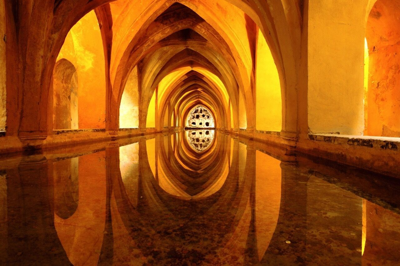 Arch Reflection Built Structure Architecture Indoors  No People Water Day SPAIN Sevilla Alcazar