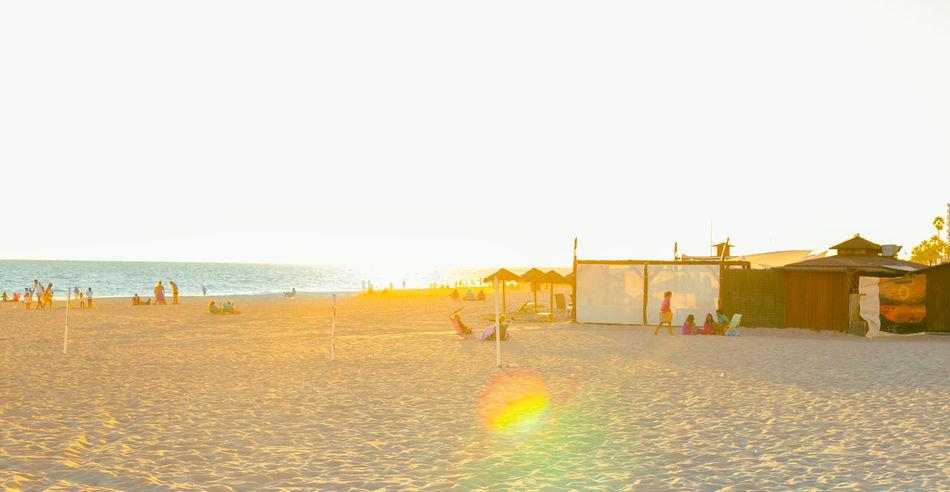 Summer in Spain. Sunset at the beach. Rota, Cadiz Beach Cadiz City Family Mediterranean  Men Ocean Ocean View Paradise People Promenade Relaxation Resort Rota Sand Sea SPAIN Summer Sunset Tourism Travel Destinations Vacations Walk Water Woman