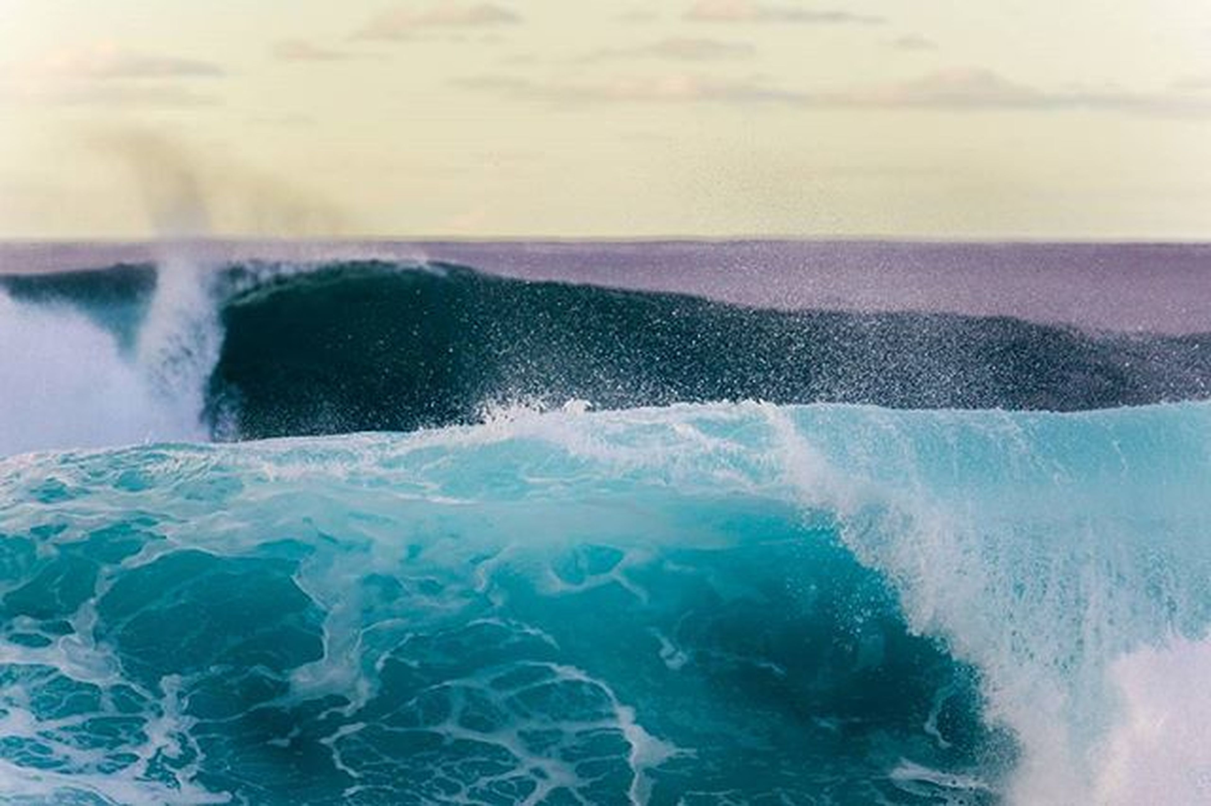 water, sea, wave, splashing, surf, motion, beauty in nature, horizon over water, scenics, nature, waterfront, power in nature, blue, sky, rock - object, day, outdoors, idyllic, rushing, no people