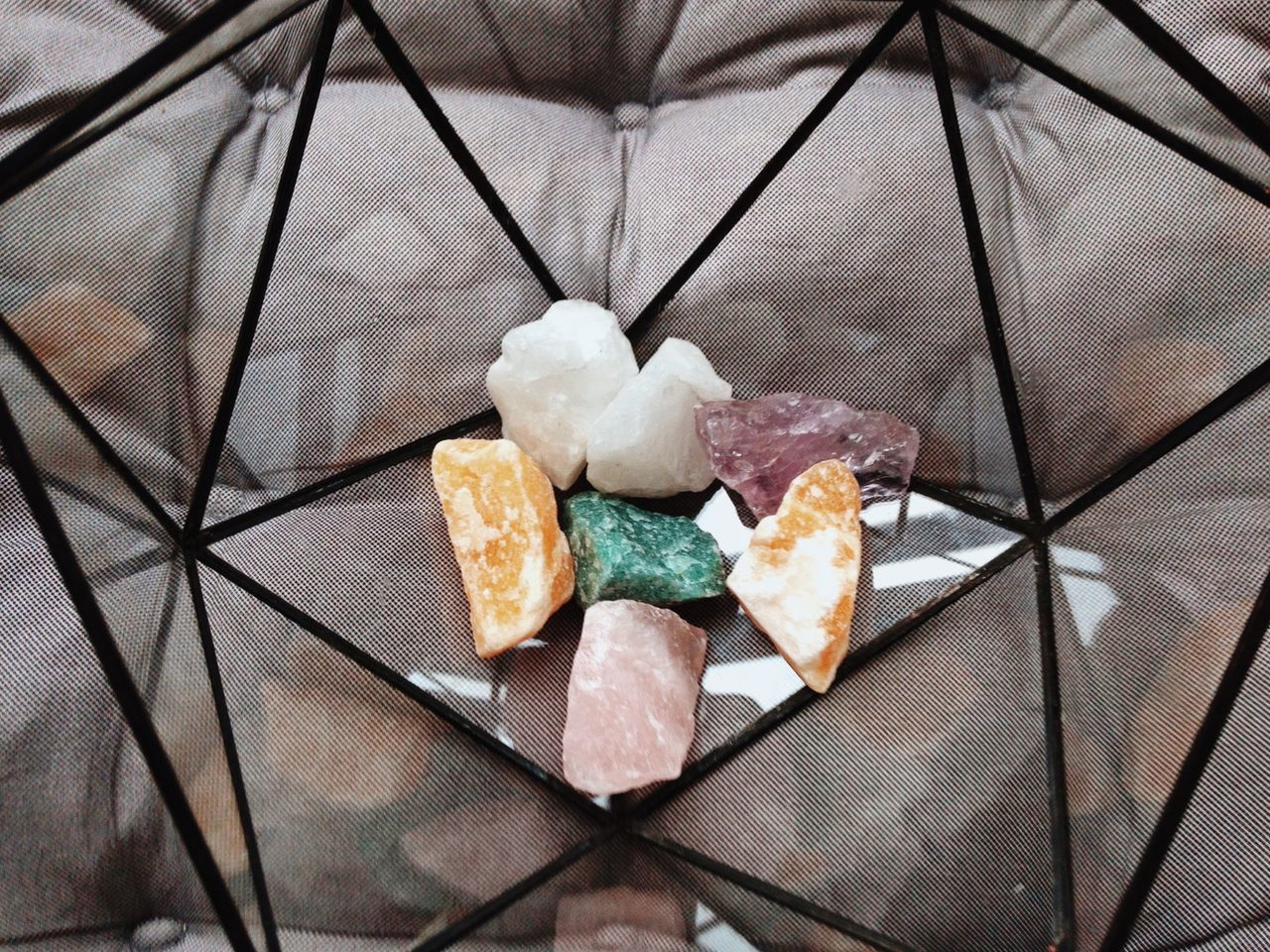 Colorful stones Indoors  High Angle View No People Close-up Stones Stone Material Colorful Abstract Design Decor Decoration Copy Space