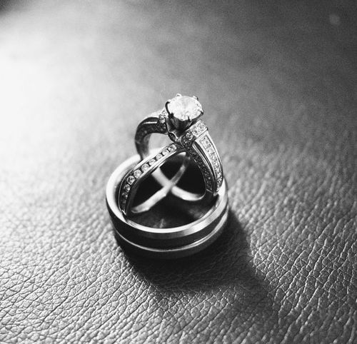 Engagement Ring Wedding Rings Wedding Set Jewelry Rings Diamond Ring Close-up Marraige His And Hers