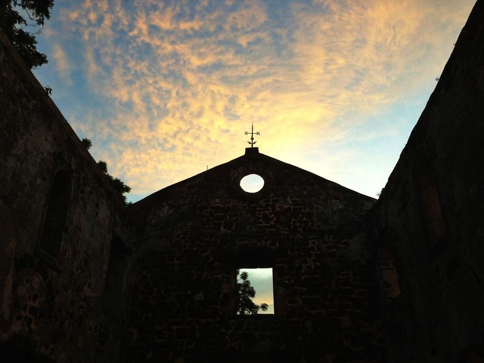 Beautiful Sky And Sillouette At Saint Paul's Church