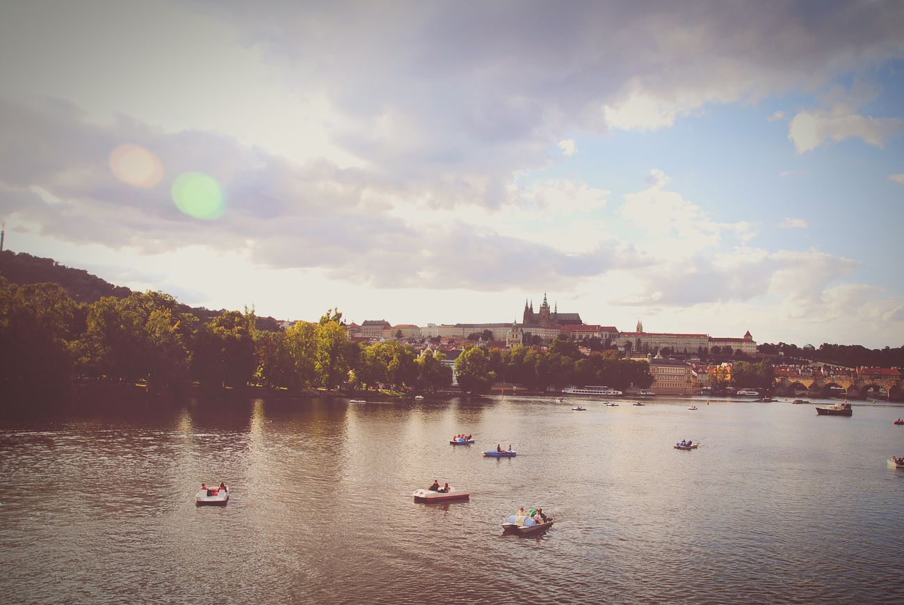 Prague Cloud - Sky River Water Nautical Vessel Czech Republic🇨🇿 Holidays ☀ Holiday Trip Friendship. ♡   Architecture People First Eyeem Photo
