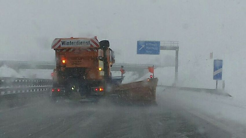 Germany Deutschland Cold Winter ❄⛄ Autobahn Schnee Snow ❄ Snowing Slippery Winterdienst Stau