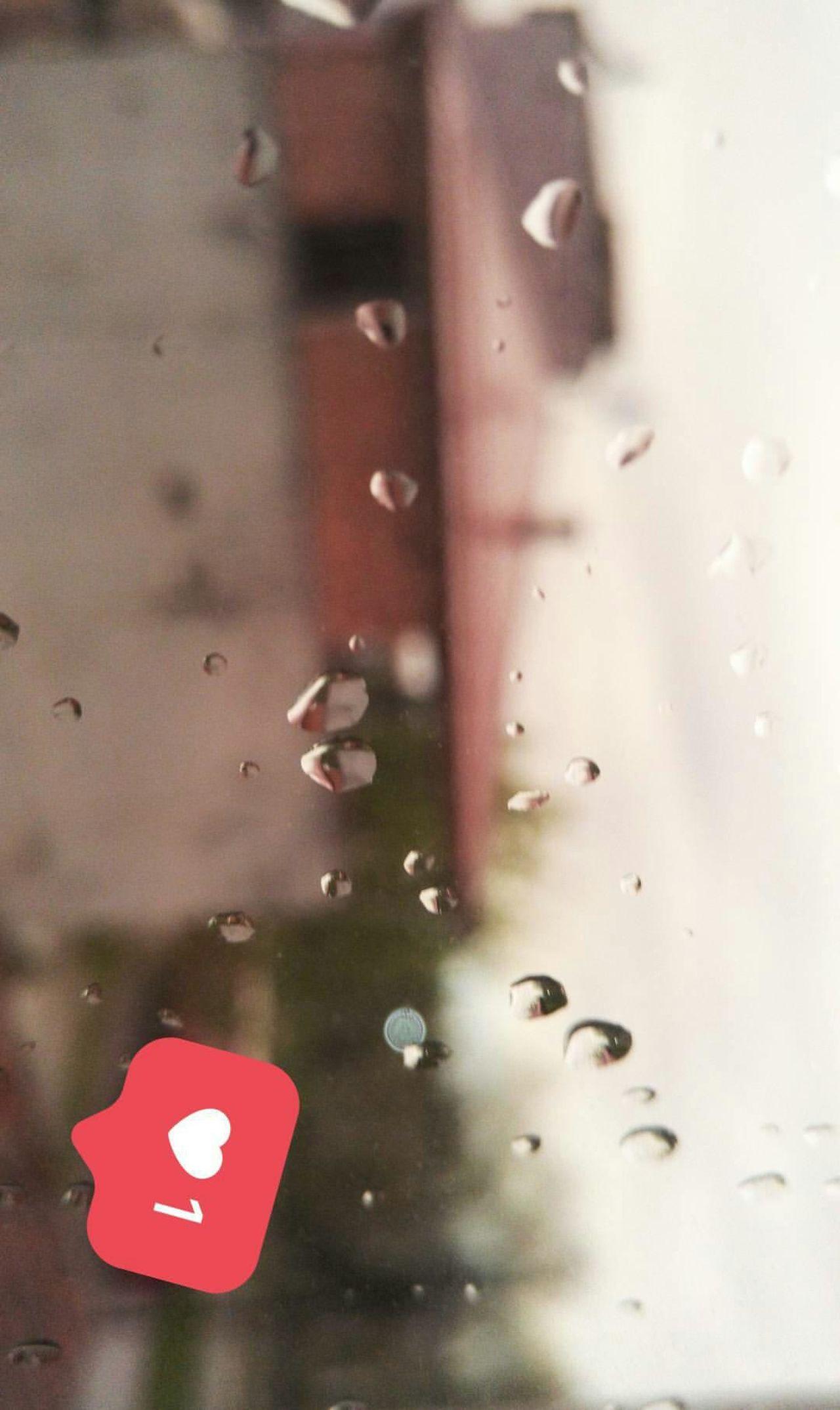 EyeEmNewHere Reflection Red Focus On Foreground No People Close-up Day Outdoors Water Yağmur April NİSAN Pencere Window House Ev çatı  Damla Nature City EyeEm Best Shots Samsun Sky