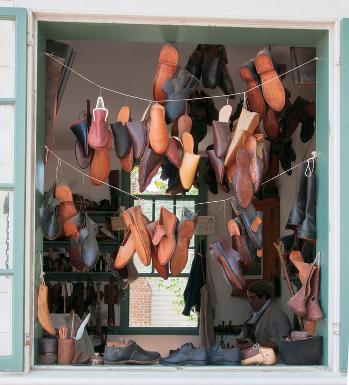 Inside the Cobblers Shop 5067 Abundance Arrangement Choice Cobbler Collection Day Display Large Group Of Objects Leather Craft Lifestyles Market Market Stall Repetition Retail  Sale Shoe Maker Shoe Maker Shop Shoes Shop Window Side By Side Stack Store Variation Window