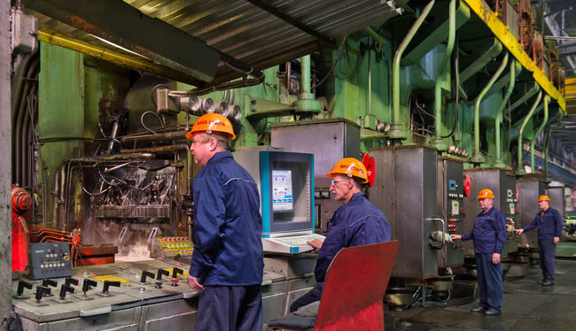 Russia, Yekaterinburg, Upper Iset plant, steel cold rolling mill Casual Clothing City Life Day Illuminated Leisure Activity Lifestyles Medium Group Of People Russia, Yekaterinburg, Upper Iset Plant, Steel Cold Rolling Mill