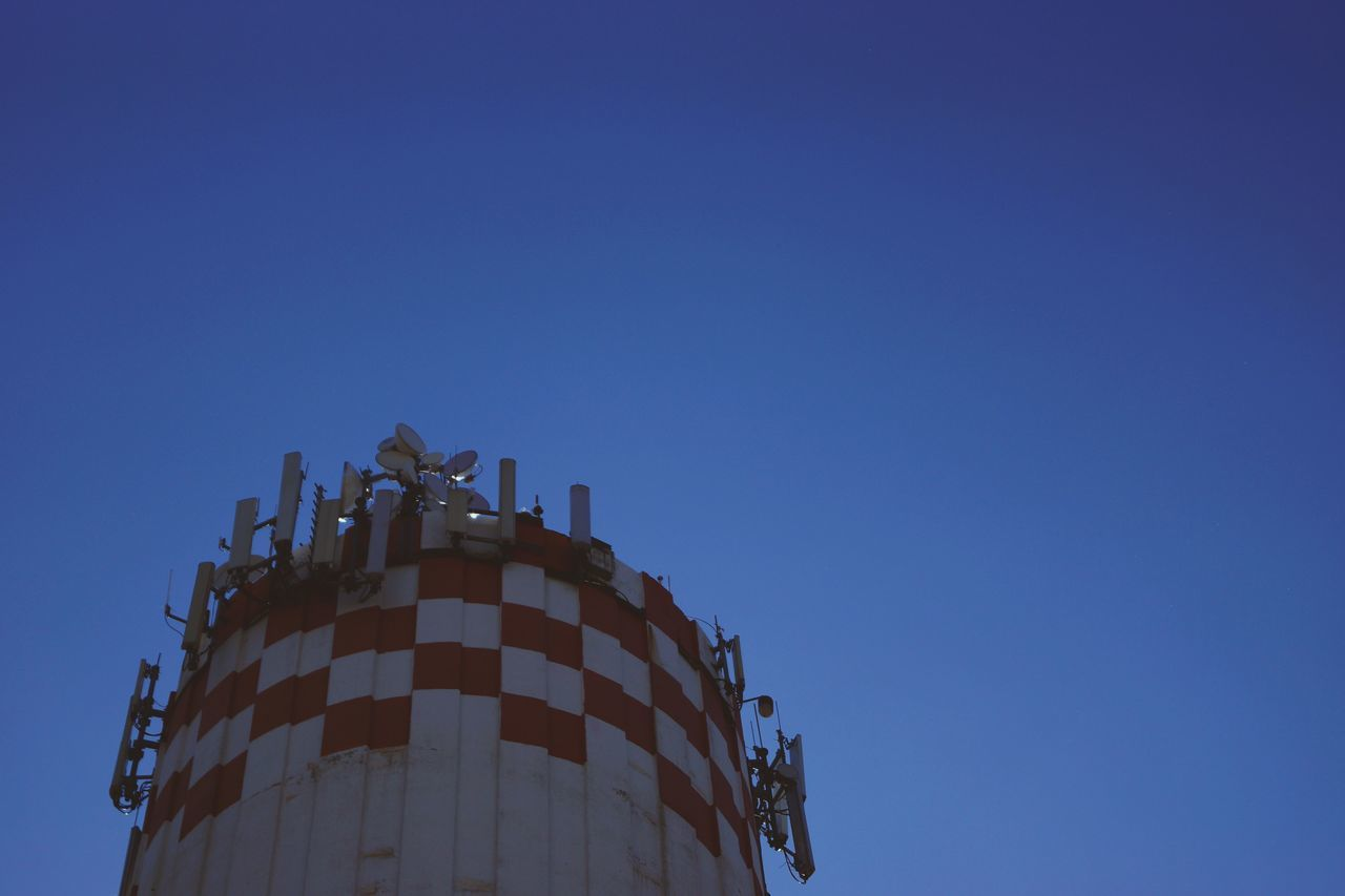 Business Finance And Industry Storage Tank Clear Sky Low Angle View Blue Day Outdoors No People Sky Outdoors Photograpghy  EyeEm Gallery EyeEmBestPics Sunlight ☀ Sunlight And Shadows No Filter, No Edit, Just Photography Summer ☀ Reflection Watertower The Architect - 2017 EyeEm Awards Low Light Photography Industry Communication Equipment