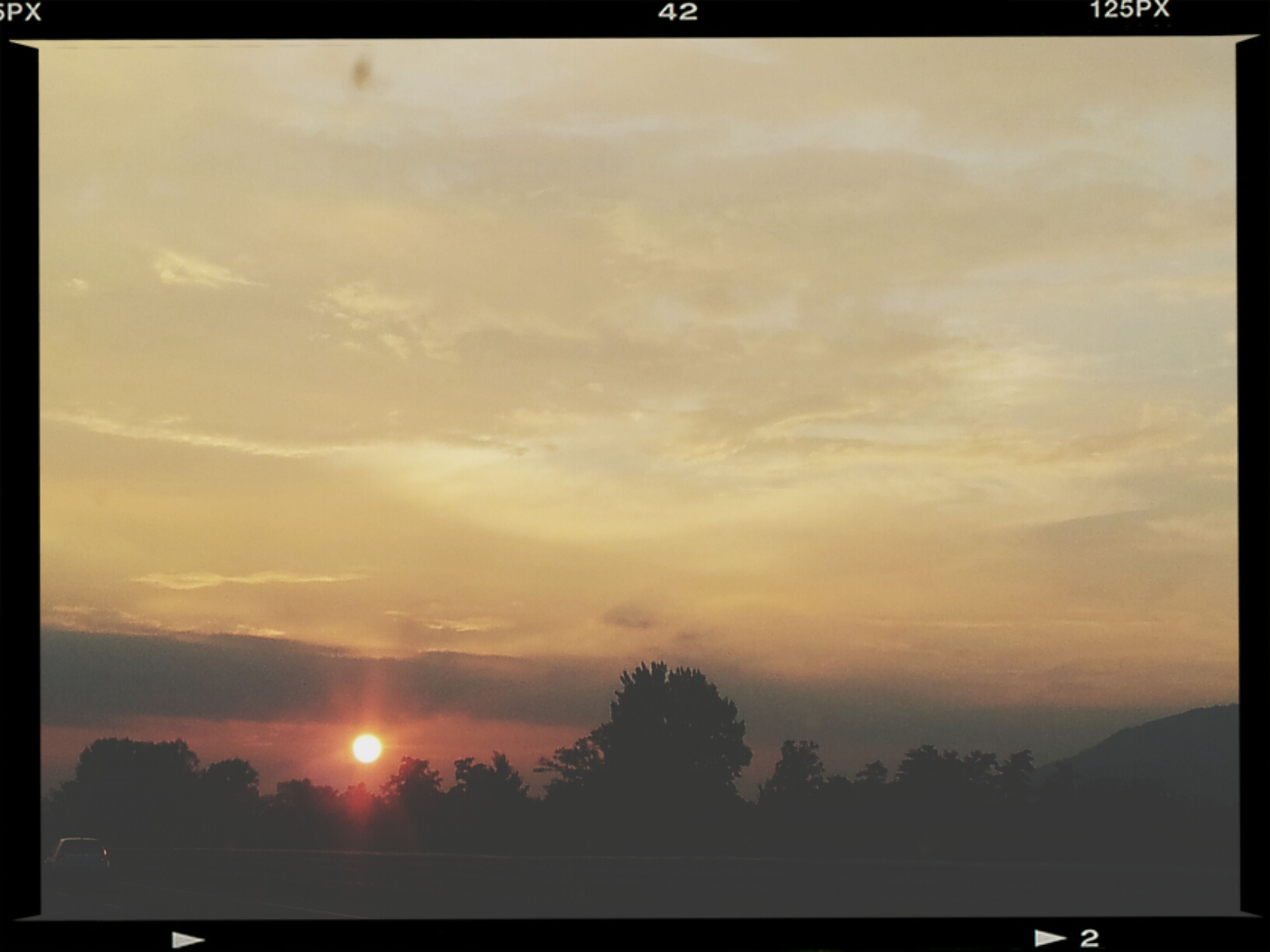 transfer print, sunset, auto post production filter, scenics, tranquil scene, beauty in nature, silhouette, tranquility, sky, sun, nature, idyllic, orange color, cloud - sky, tree, landscape, sunlight, cloud, outdoors, water