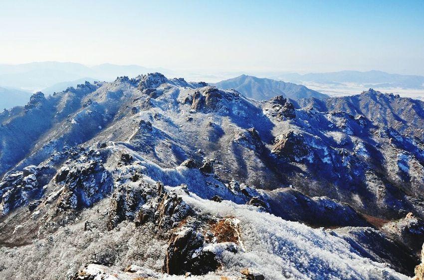 Wolchulsan National Park In Korea Wintertraining Last Winter Snow❄sky On The Mountain Winterwonderland Snowwhite Snow Photography In Korea