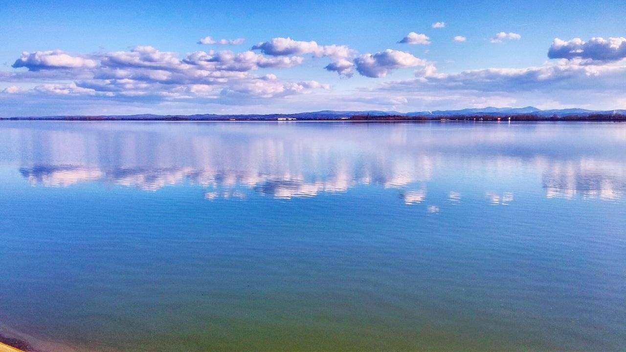 Stillness... Lake View Beautiful Day Sky And Clouds Croatia ♡ Colour Of Life