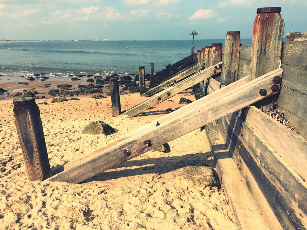 Sea Wall Sea Defence Woodwork  Man Made Structure Sluice Sand Blue Sea Sand Dune Seaside_collection Beach Photography Seaside Beach Dog Walking Blyth Beach Sunny Day Daily Life Great Day Out Seaton Sluce Waves, Ocean, Nature Picnic