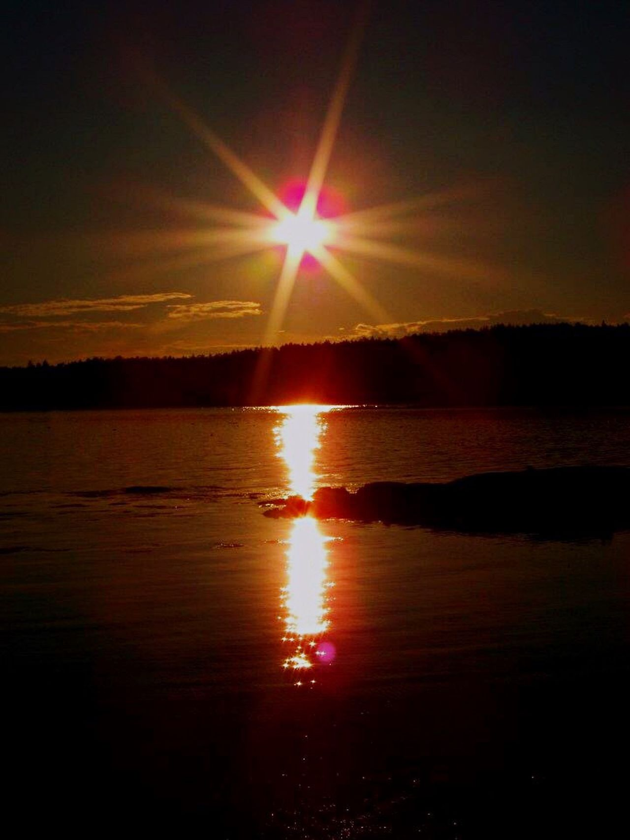 Ocean on fire Sunset Beauty In Nature Lens Flare Reflection Sunlight Seascape Ocean On Fire