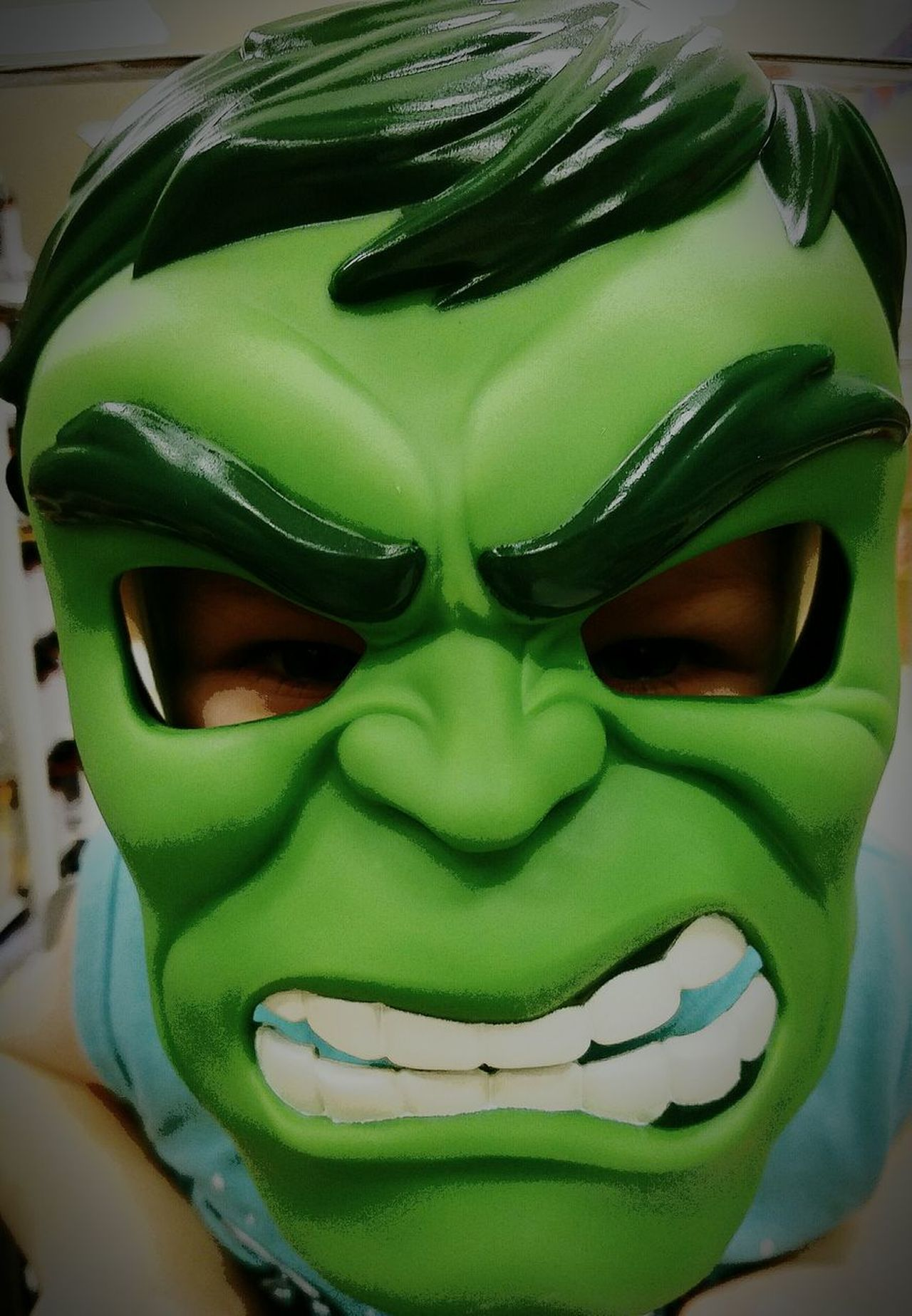 Green Color Indoors  Headwear Close-up My Little Hulk Fun With My Son South Dakota. Sioux Falls Just Mommin Cartoonized Cartoon Style Headshot One Person Sioux Falls Adventures Super Heroes  Obsessed Boys Will Be Boys!  Having A Blast With My Munchkin