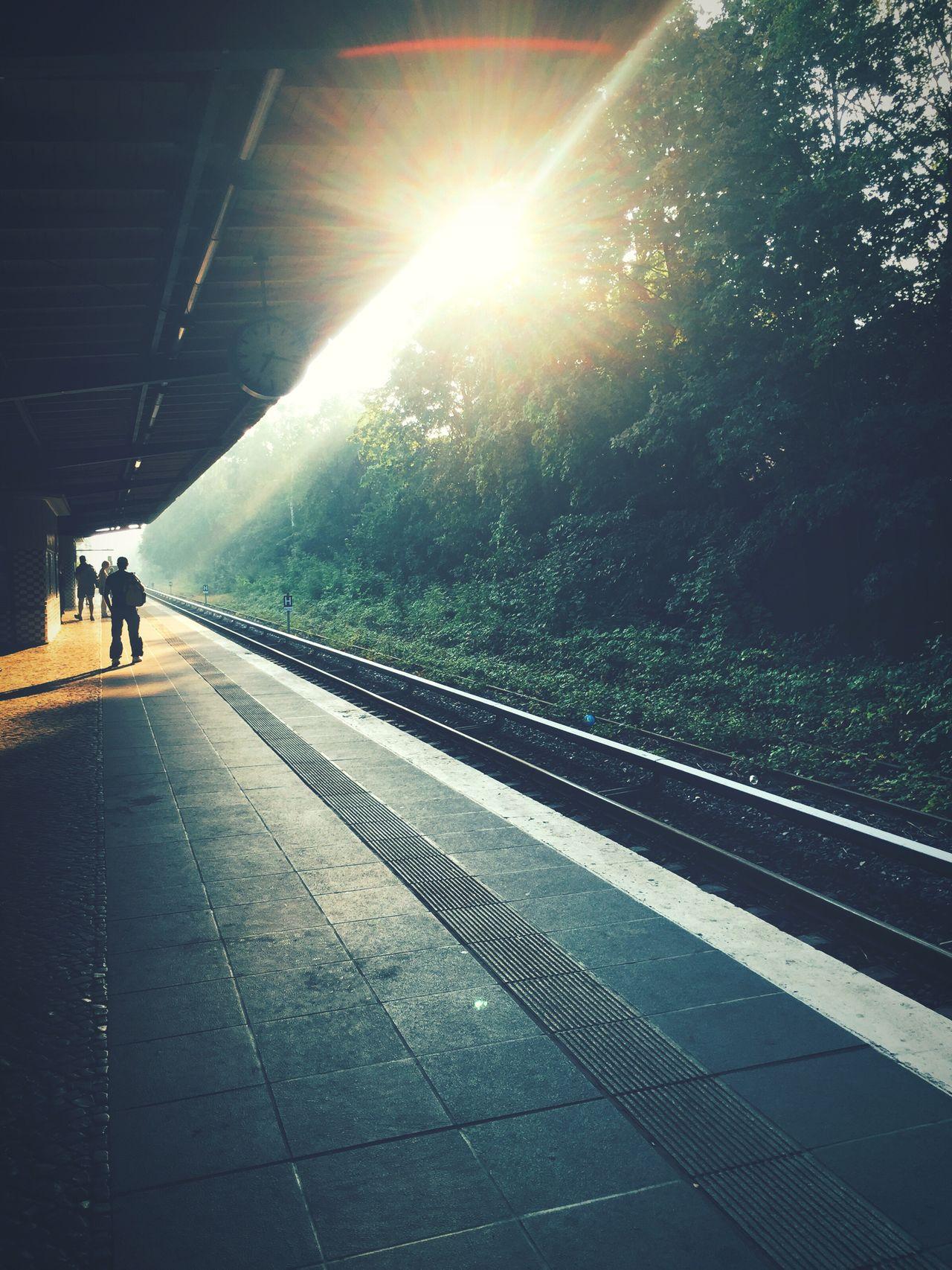 Berlin Sunrise Trainstation Morning Light Steglitz