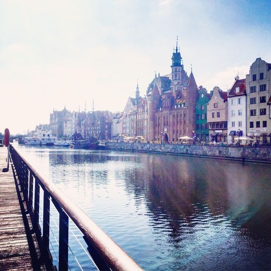 Motława River from Wyspa Spichrzów in Gdansk , Poland - IPhone IPhoneography Iphoneonly Sunshine Beautiful Amazing Architecture The City Light